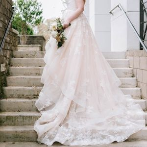 Martina Liana Ballgown - ivory & blush - size 14